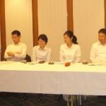 左から穴田卓司(高36)、今村友美(高41)、川波(合田)紀子(高43)、神谷敏充(高47)