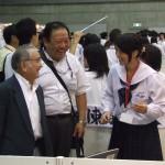 2010年・横浜パシフィコ。SSH全国大会で東高生徒さんを激励する今田氏